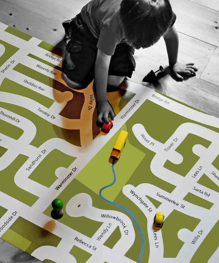 I am Here - your neighbourhood custom play mat